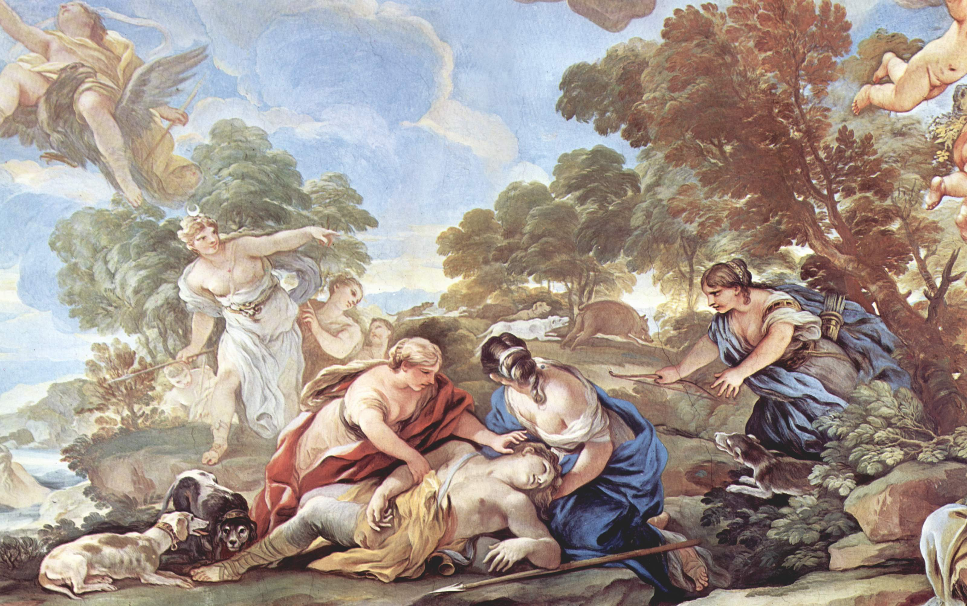 adonis and aphrodite relationship with other god