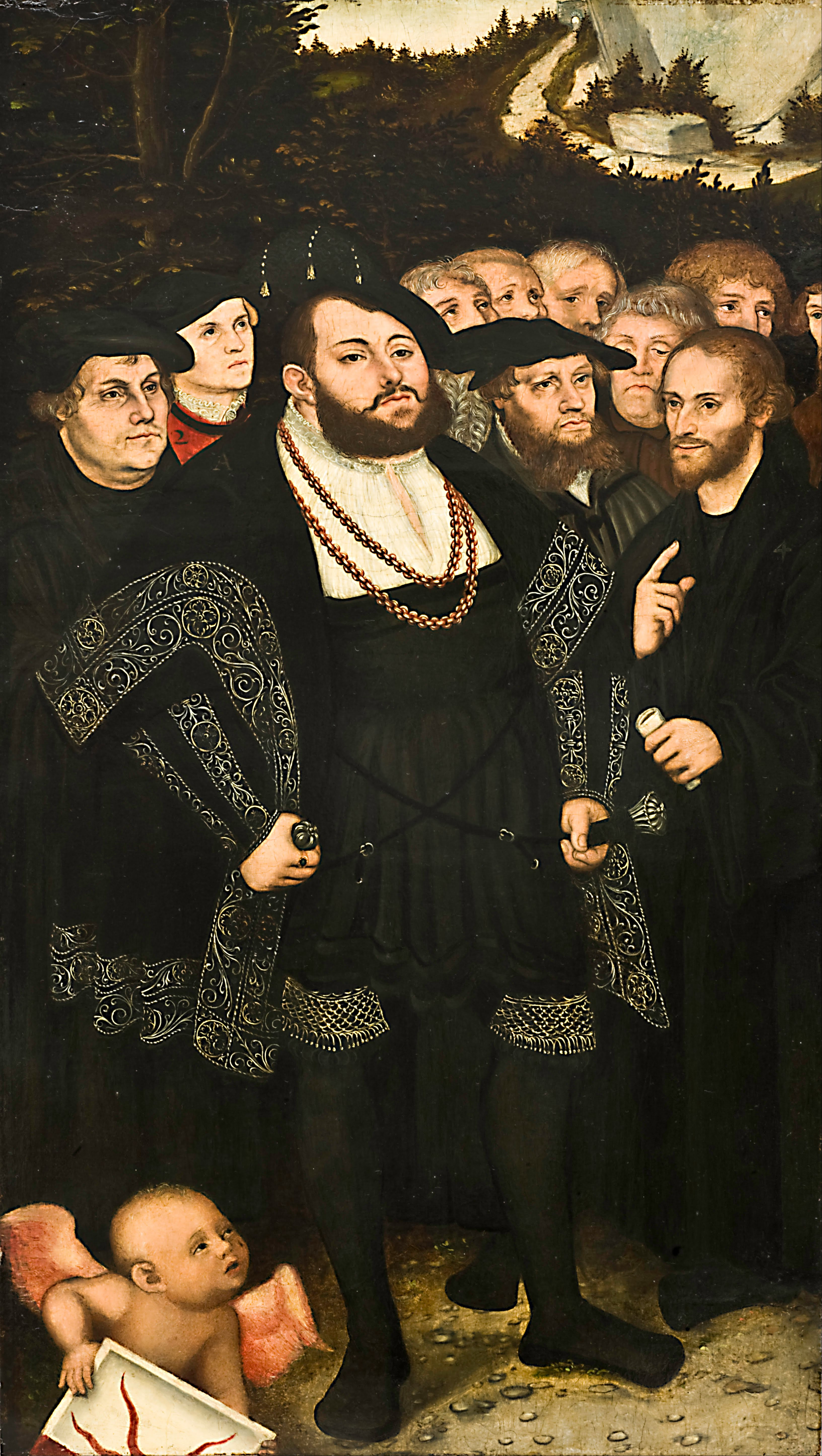 File:Lucas Cranach the Younger - Martin Luther and the Wittenberg Reformers - Google Art