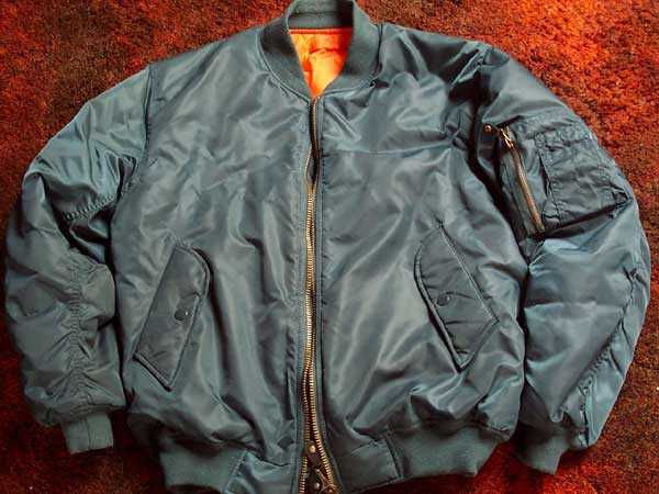 MA-1 Jacket in petrol