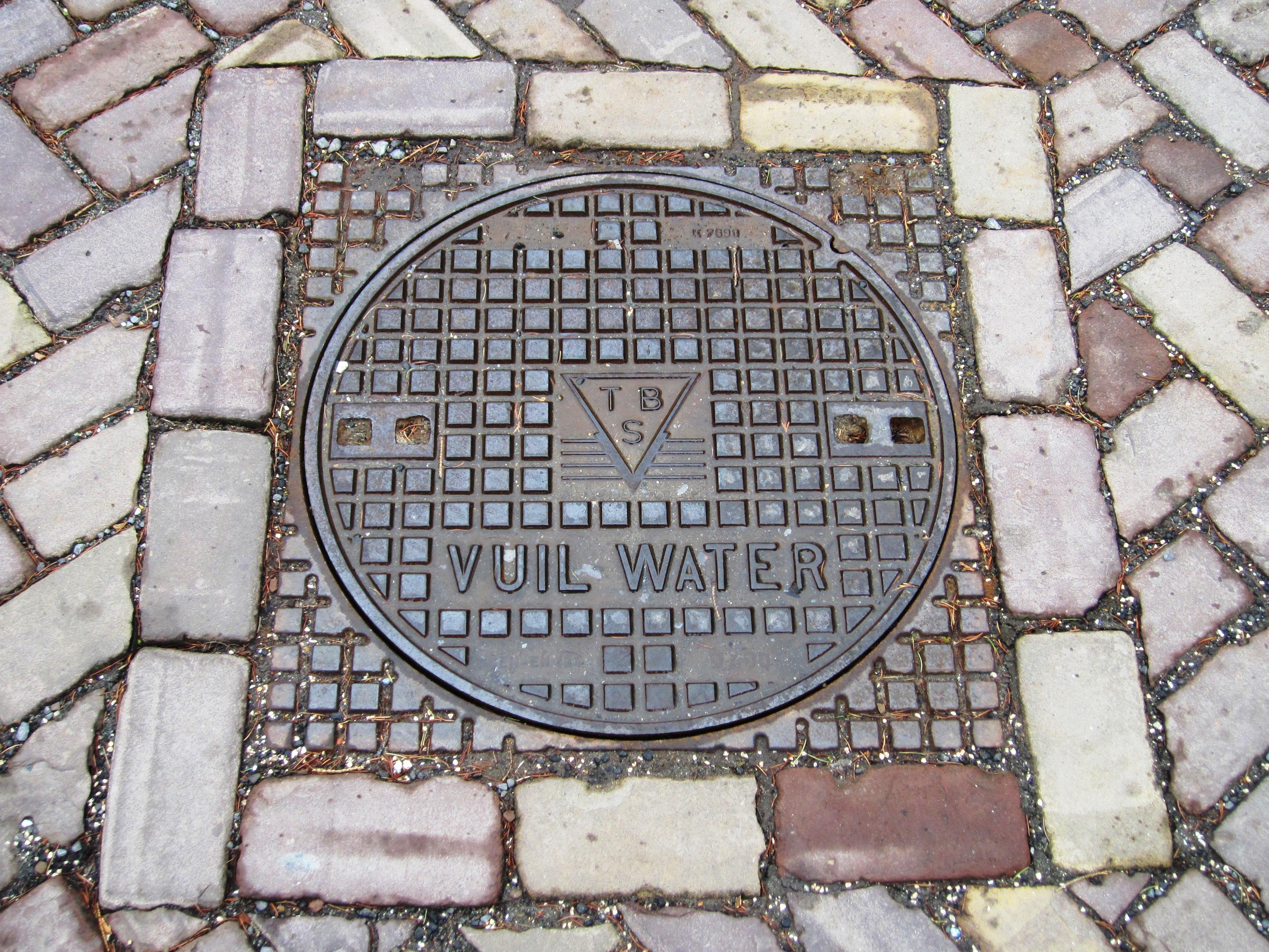 Manhole cover in Zeeuws Vlaanderen