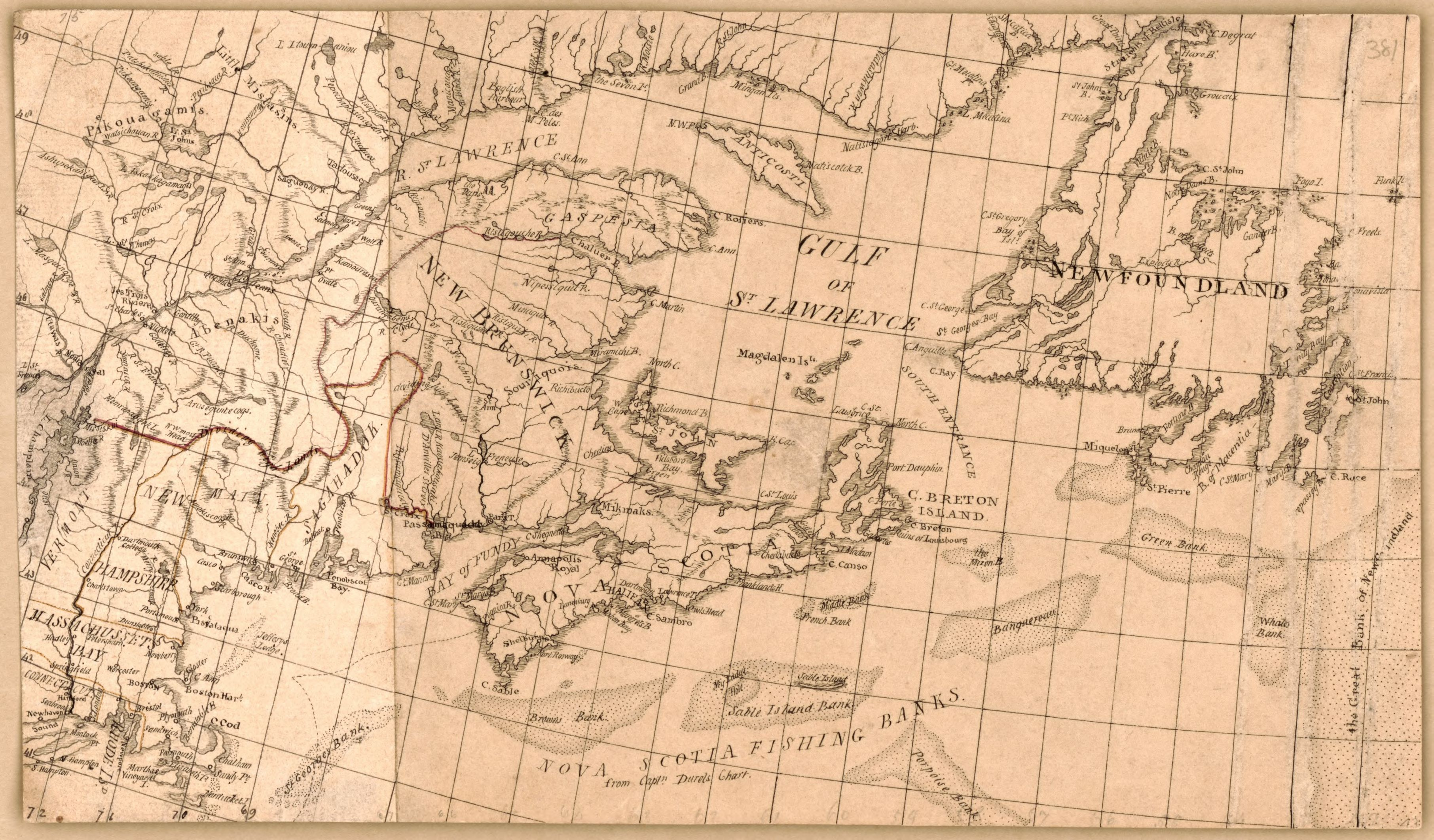 File Manuscript Map Of Eastern Canada And New England Loc