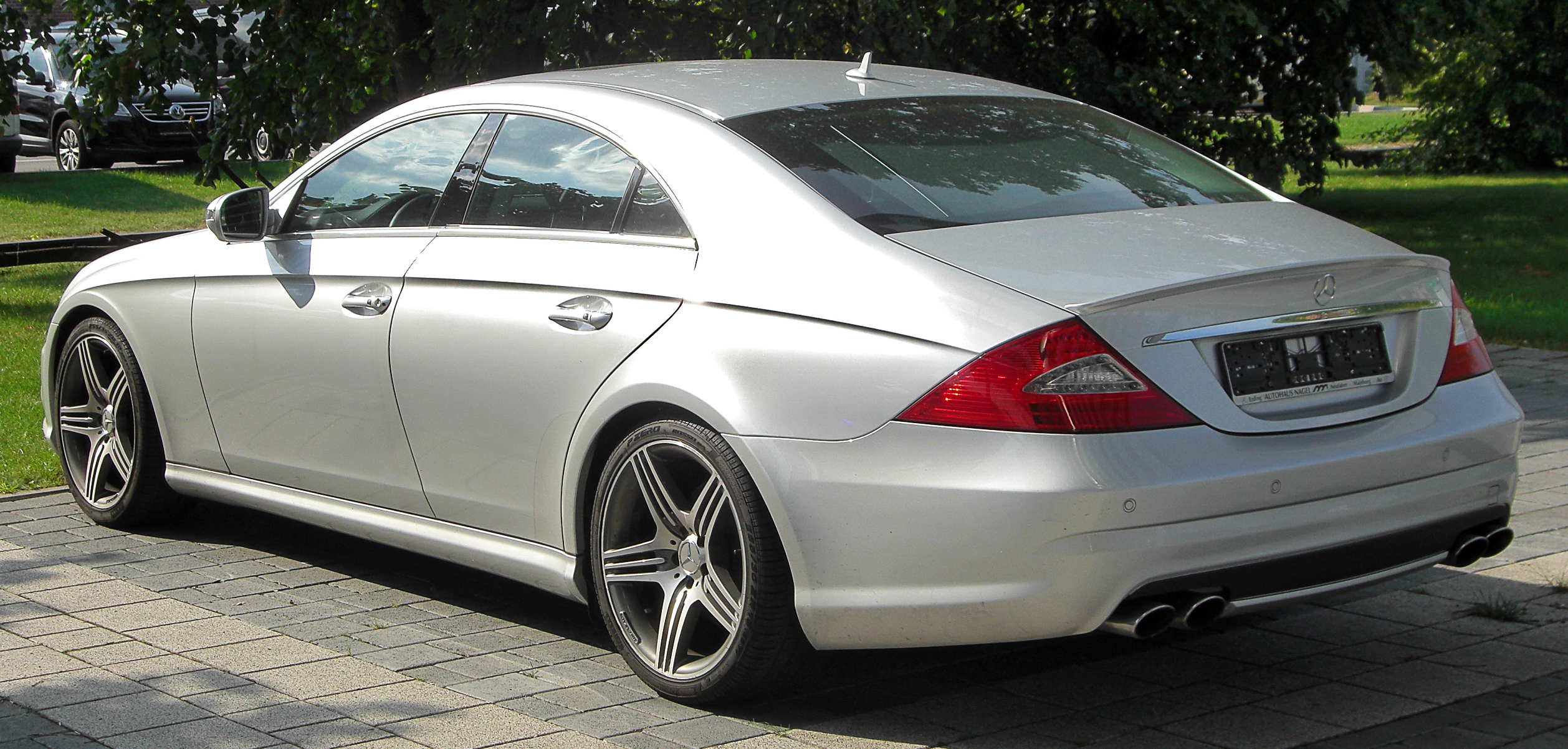 file mercedes cls 63 amg c219 facelift rear wikimedia commons. Black Bedroom Furniture Sets. Home Design Ideas
