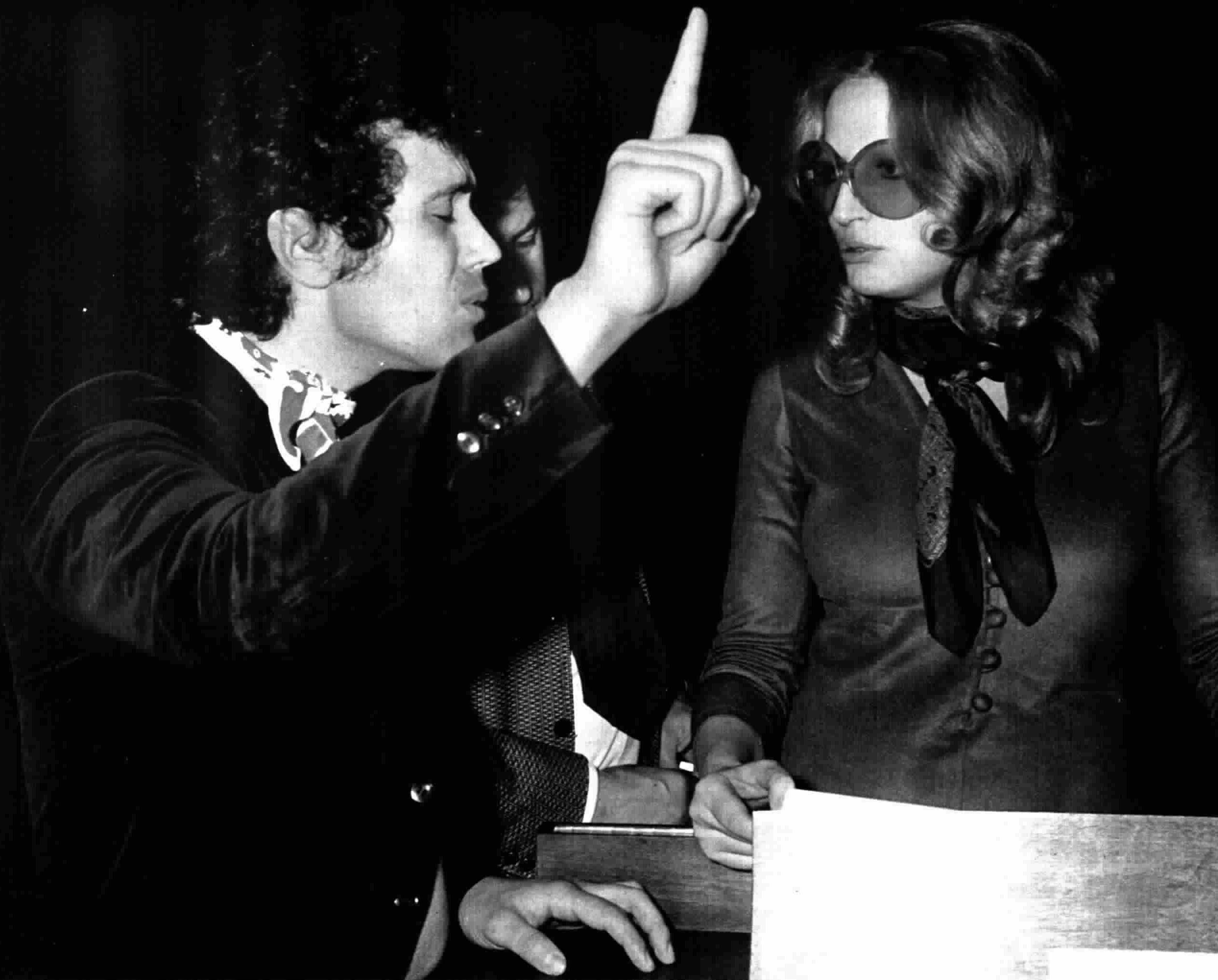 Lucio Battisti con Mina en 1973