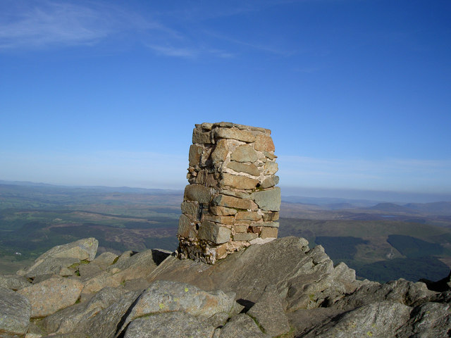 Moel Siabod trig point - geograph.org.uk - 1529956