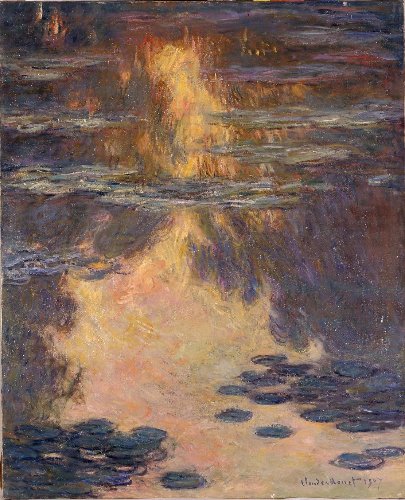 Ficheiro:Monet - Waterlilies, 1907, Kuboso.jpg – Wikipédia, a enciclopédia  livre