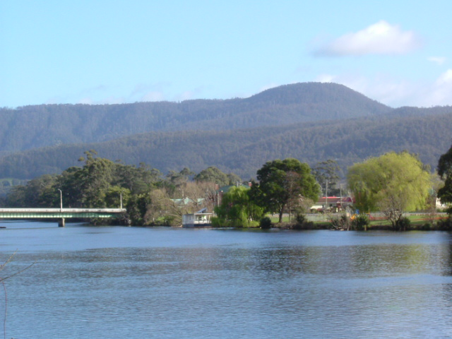 Mt Misery seen from Huon River Huonville