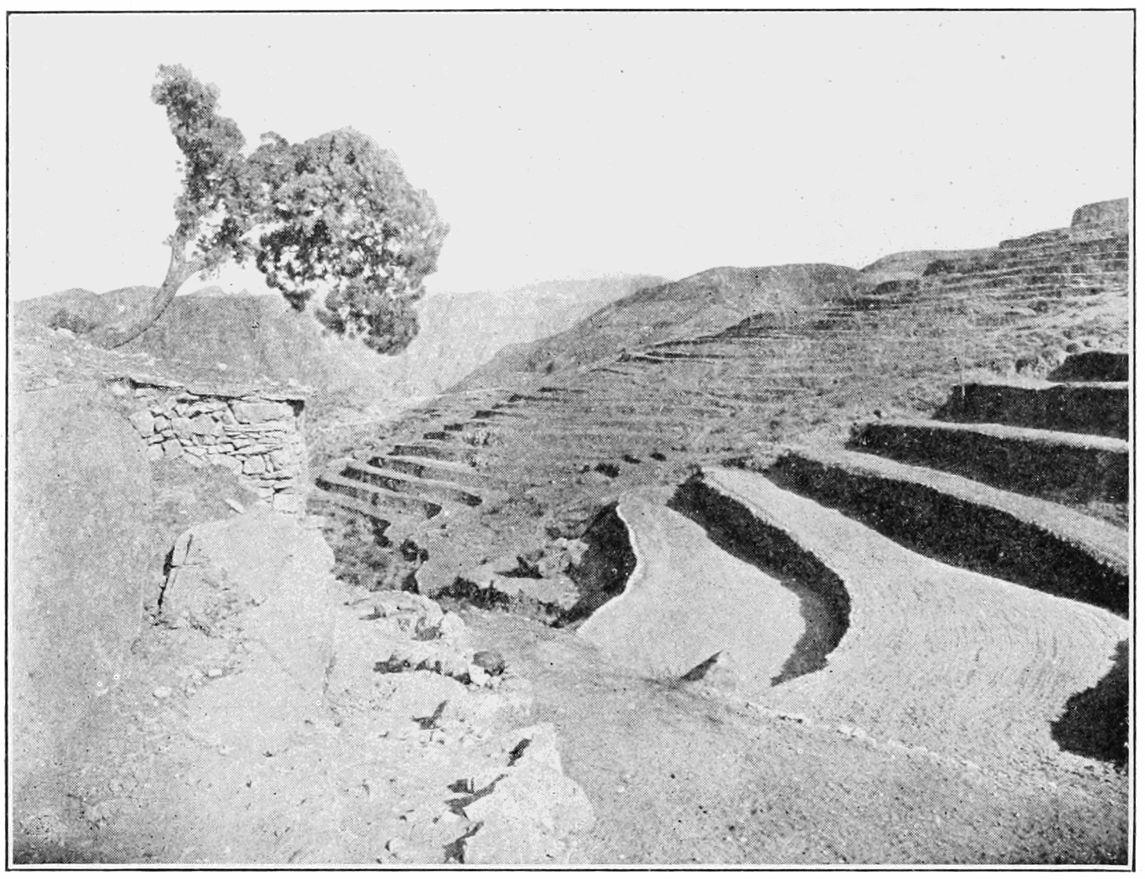 PSM V82 D114 Soil reservoirs on a hillside in the loess country.png