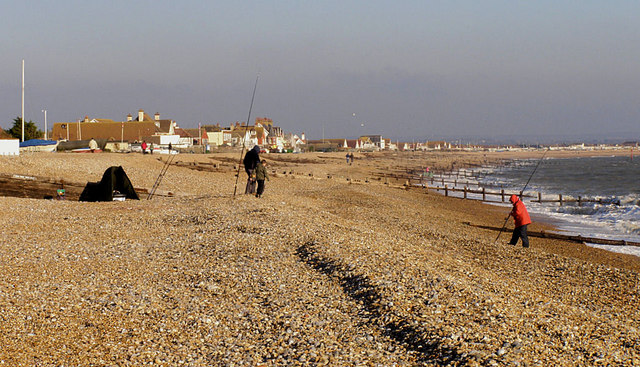 File:Pevensey Bay looking east towards Normans Bay - geograph.org.uk - 1093697.jpg