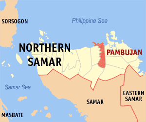 Map of Northern Samar showing the location of Pambujan
