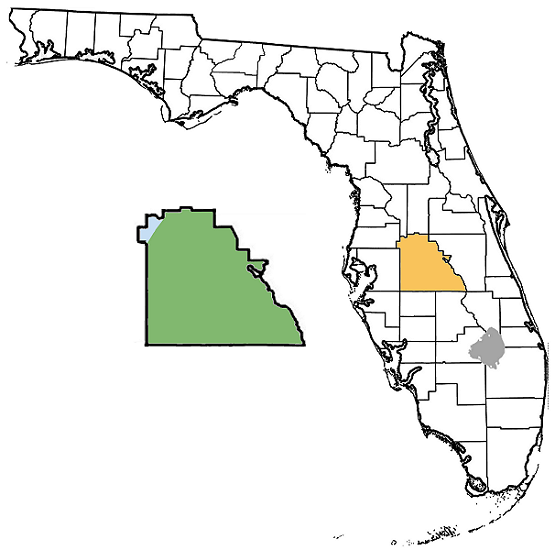 Map Of Polk County Florida.Polk County Florida Paleontological Sites Wikipedia