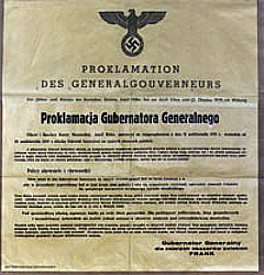 Proclamaton of General-Gouvernement in Poland by Germany 1939