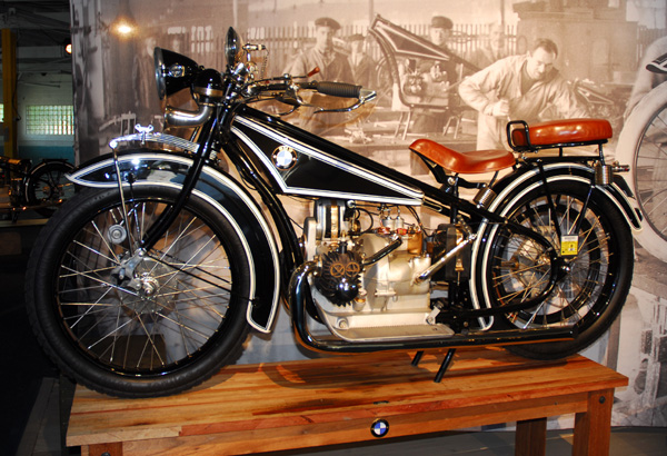 The R32 motorcycle, the first BMW motor vehicle.