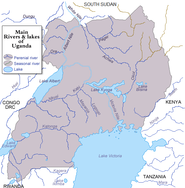 Image:Rivers and lakes of Uganda