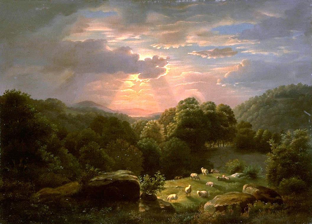 File Robertducanson Landscape Sheep Jpg Wikimedia Commons
