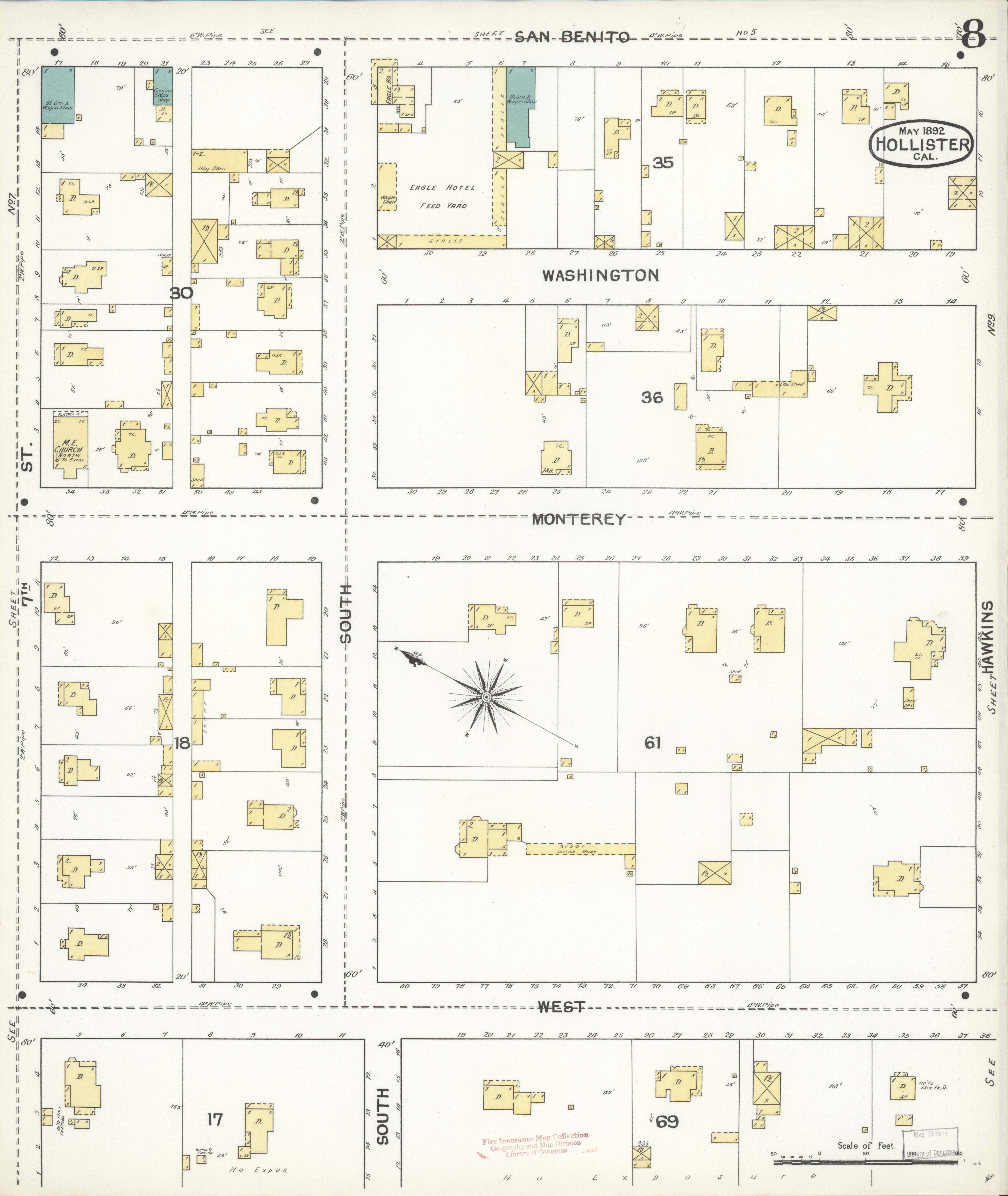 File:Sanborn Fire Insurance Map from Hollister, San Benito County ...