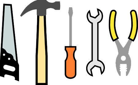 File:Saw, hammer, screwdriver, wrench, pliers.png ...