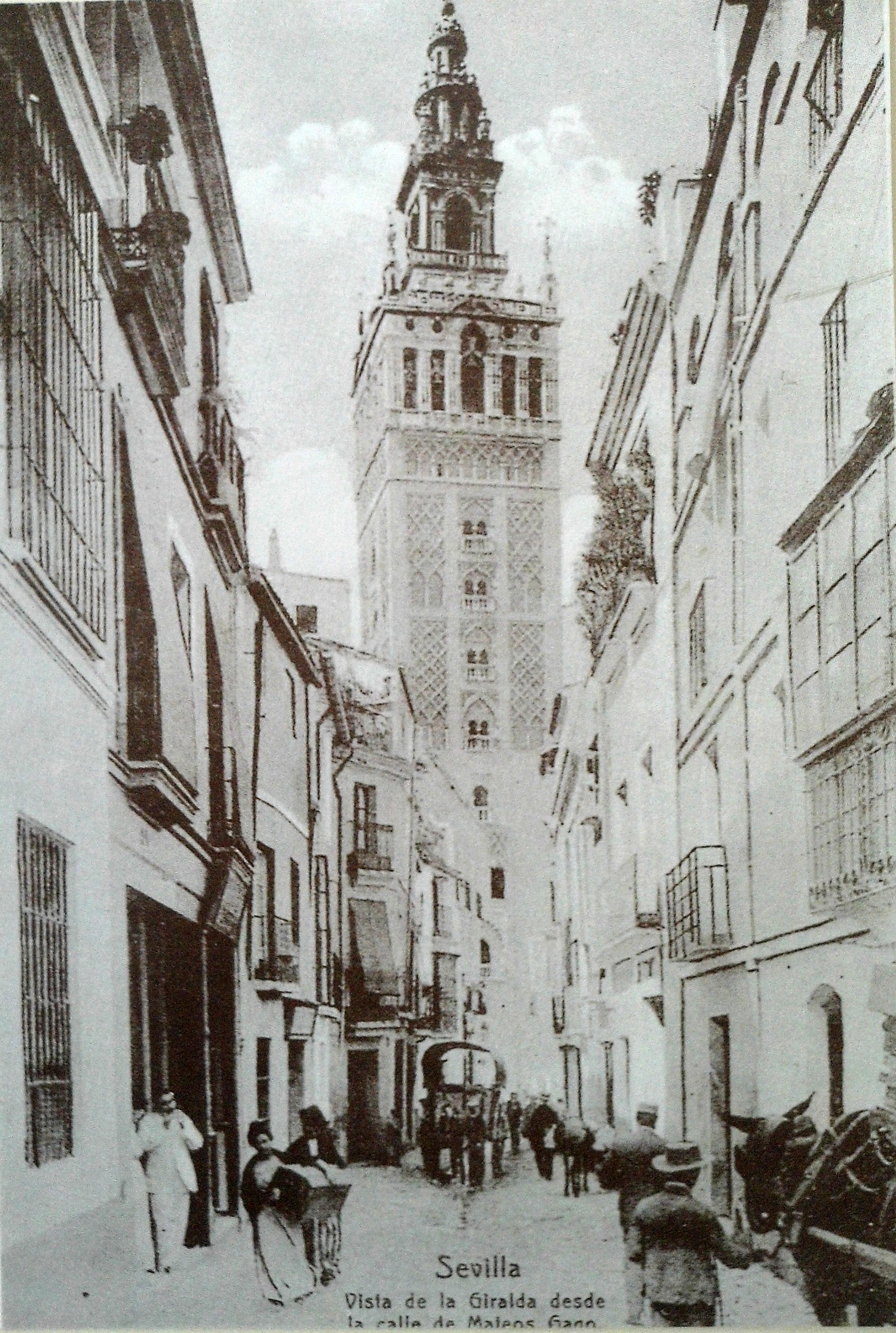 File Sevilla Vista Desde La Calle De Mateos Gago Jpg Wikimedia