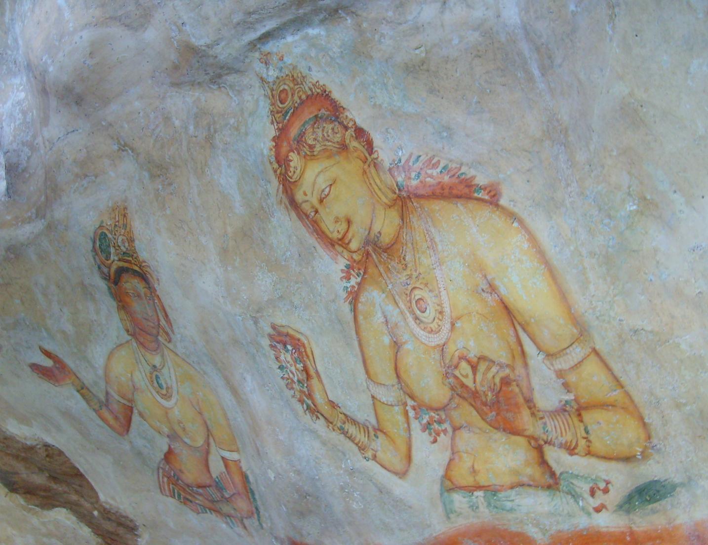 File sigiriya frescoes jpg wikipedia the free encyclopedia
