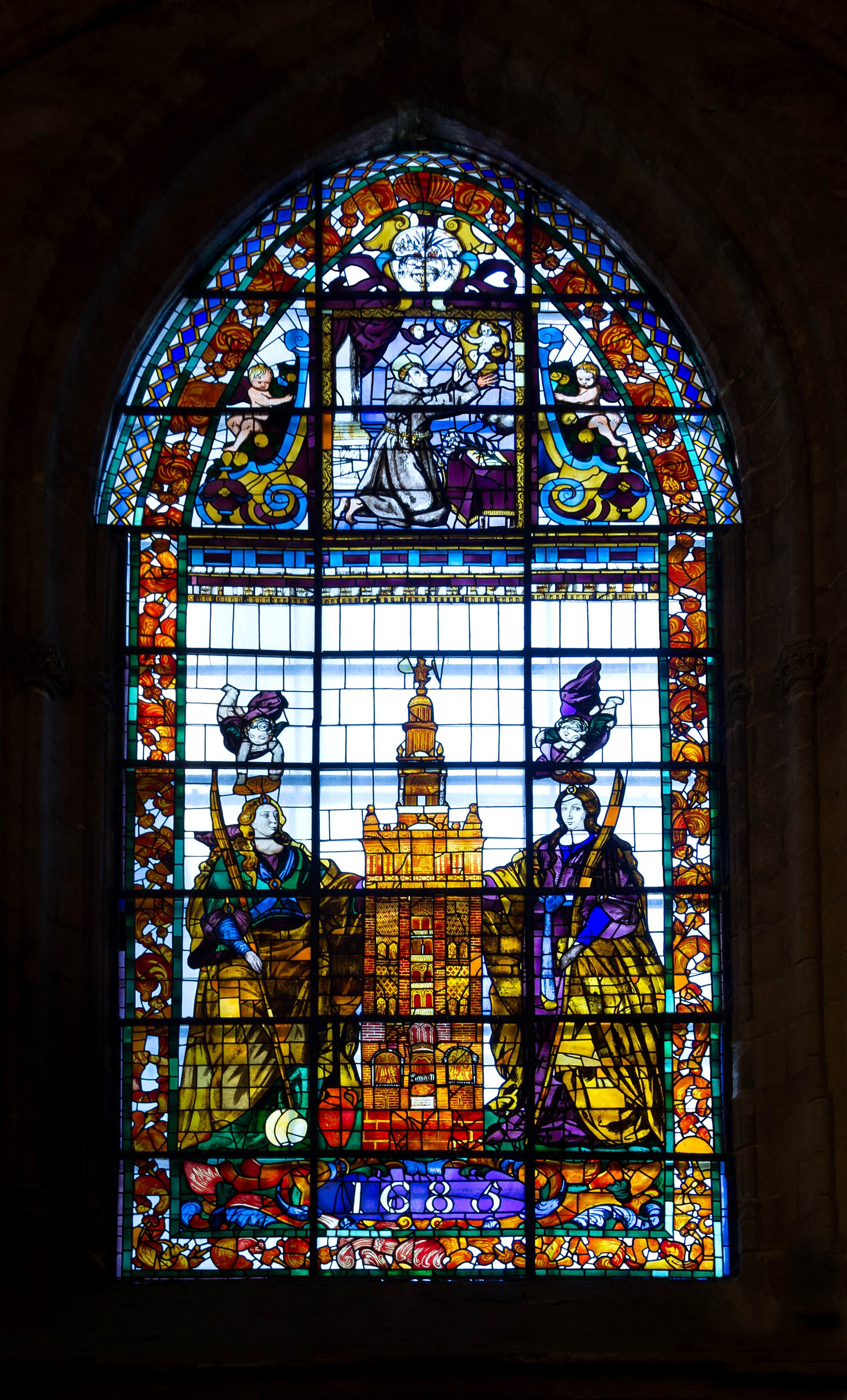 The queen of the night wicked diva in mozart s magic flute for Stained glass window church