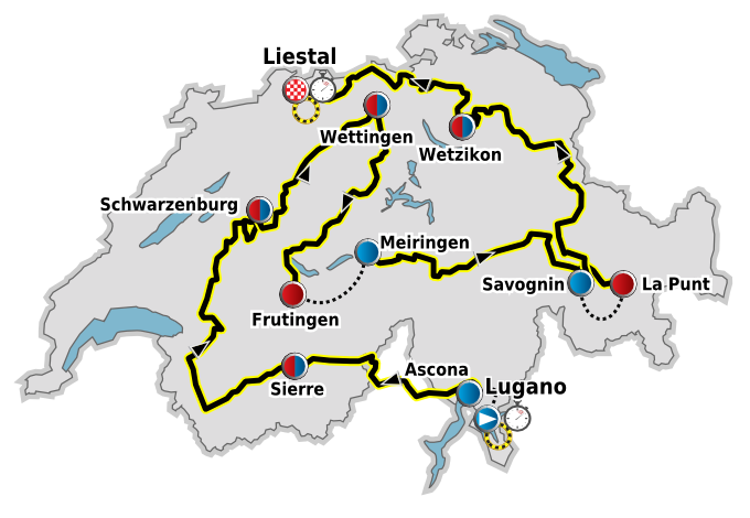Depiction of Vuelta a Suiza 2010