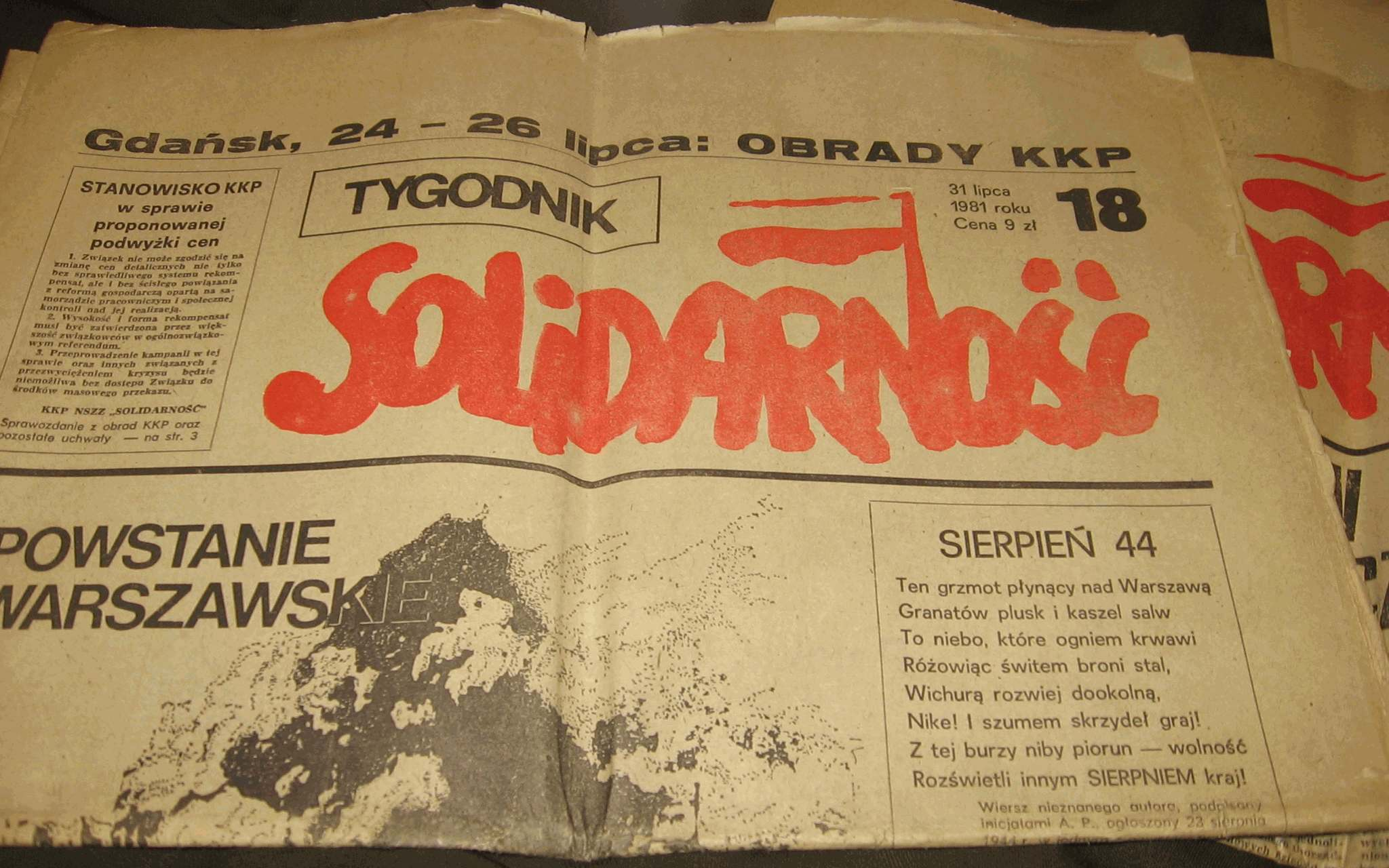 Archivotygodnik Solidarnosc 1981 Lipiecjpg Wikipedia La