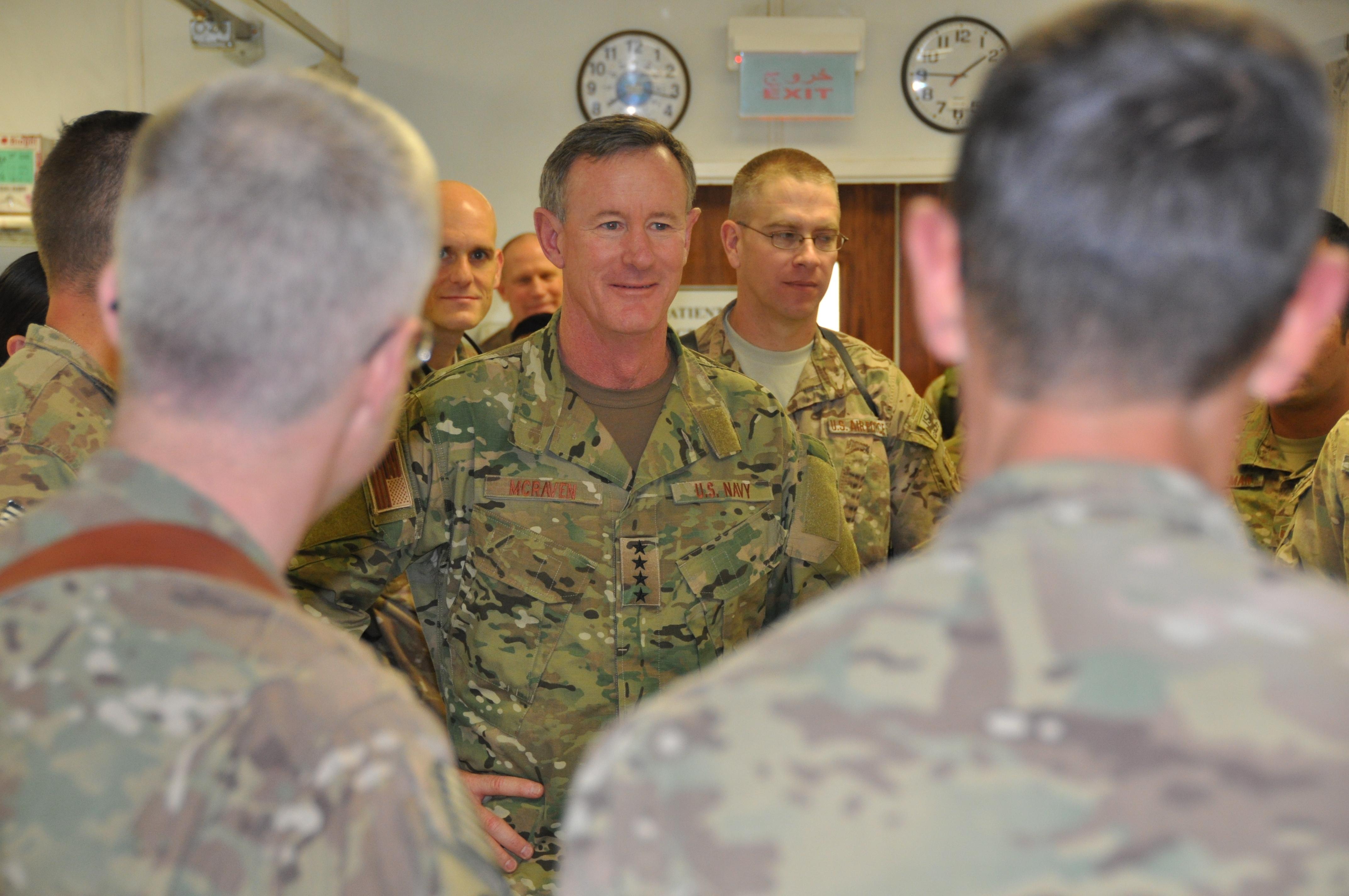File U S Navy Adm William H Mcraven Center The