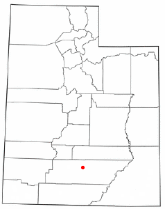 Location of Boulder, Utah