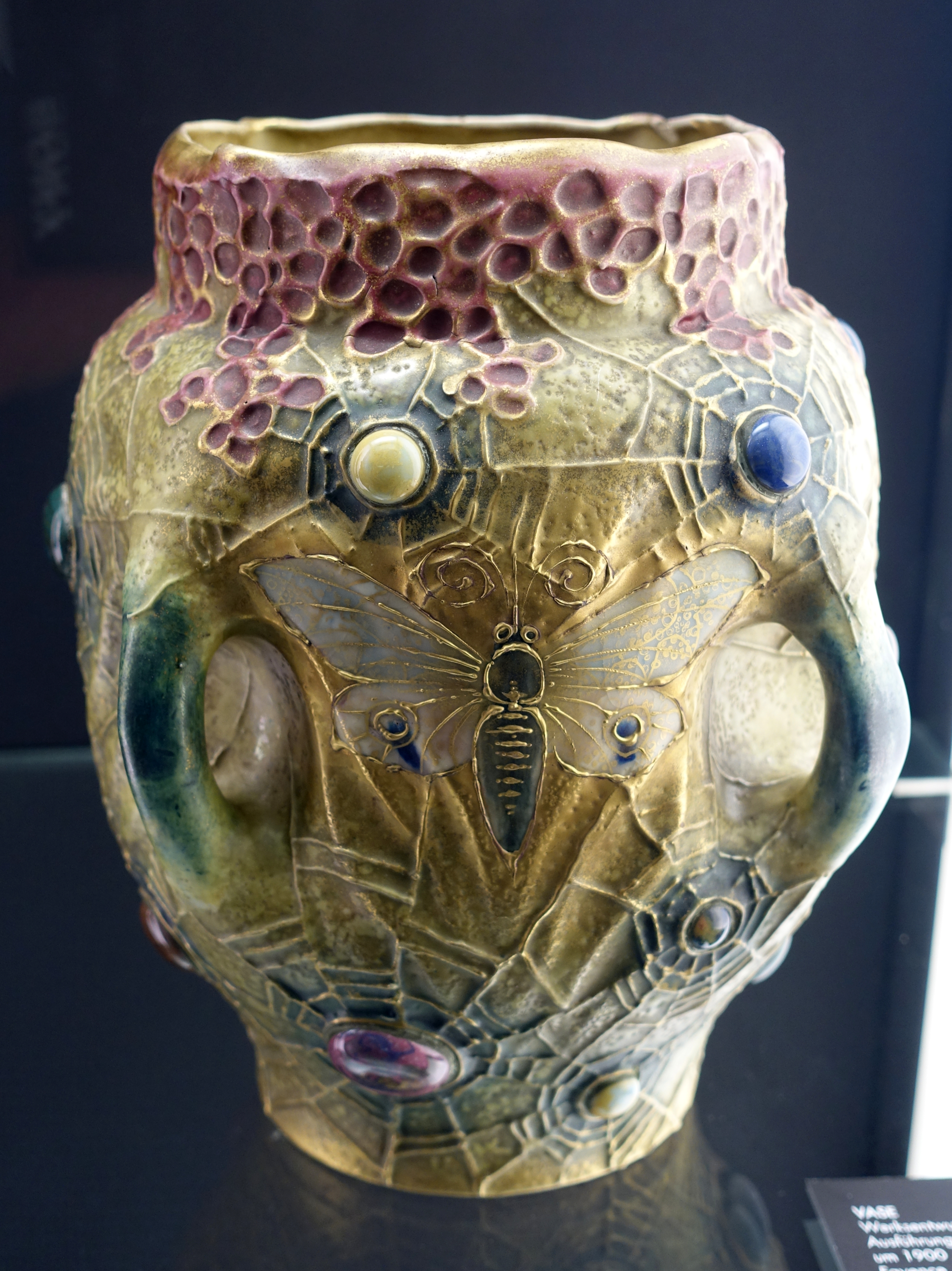 Datei Vase Amphora Werke Turn Teplitz Bohemia C 1905