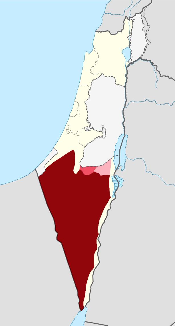 FileWV Negev Southern Judean Mountains Southern Judean Desert - Negev desert map