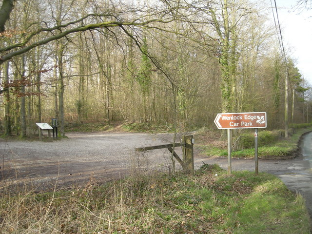 Wenlock Edge (NT) Car Park - geograph.org.uk - 740901