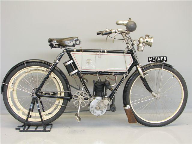 Die Werner, dass erste Motorfahrrad mit Frontantrieb Werner_230_cc_1904