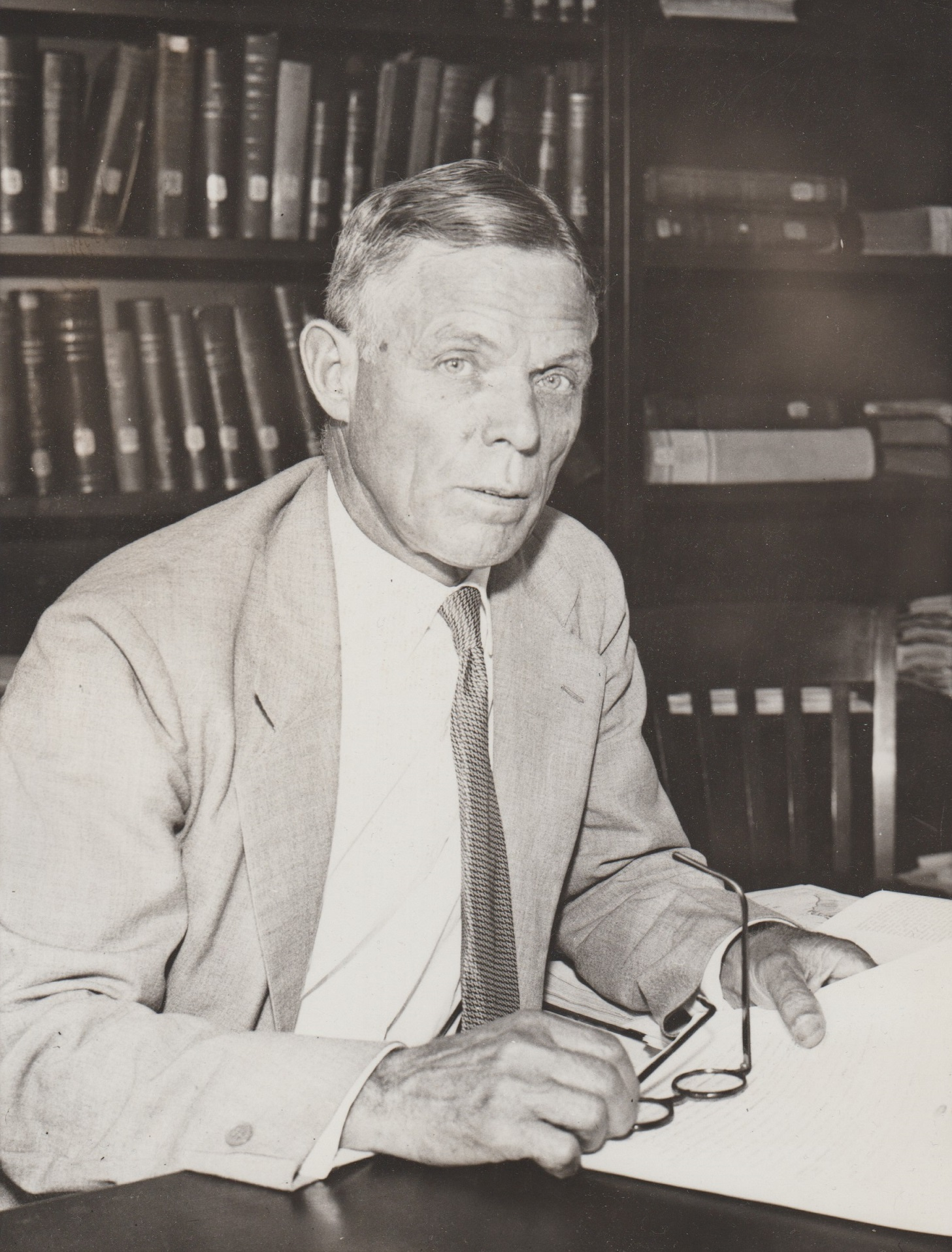 Dodd in 1933 as a professor at the University of Chicago, shortly after his nomination to be Ambassador to Germany.  International News Photos photograph.