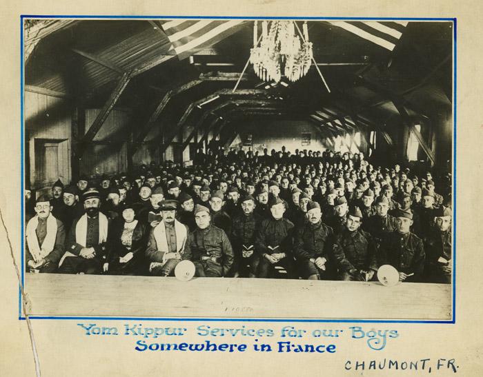 Yom Kippur services for our boys somewhere in France, circa 1917 (4863356429).jpg