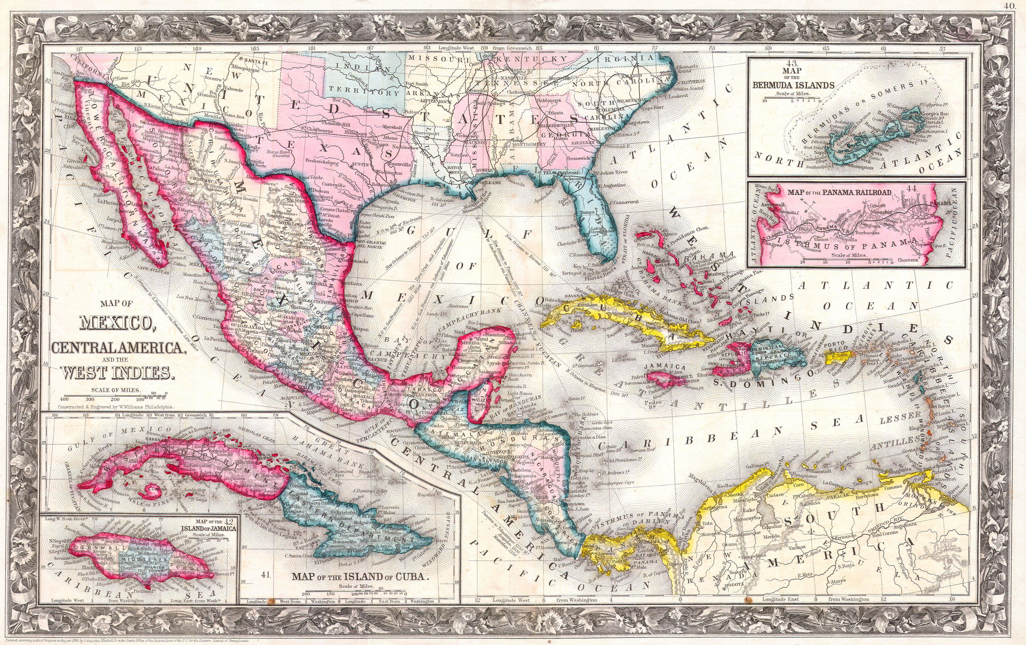 File1860 mitchells map of the west indies mexico and central file1860 mitchells map of the west indies mexico and central america geographicus publicscrutiny Gallery