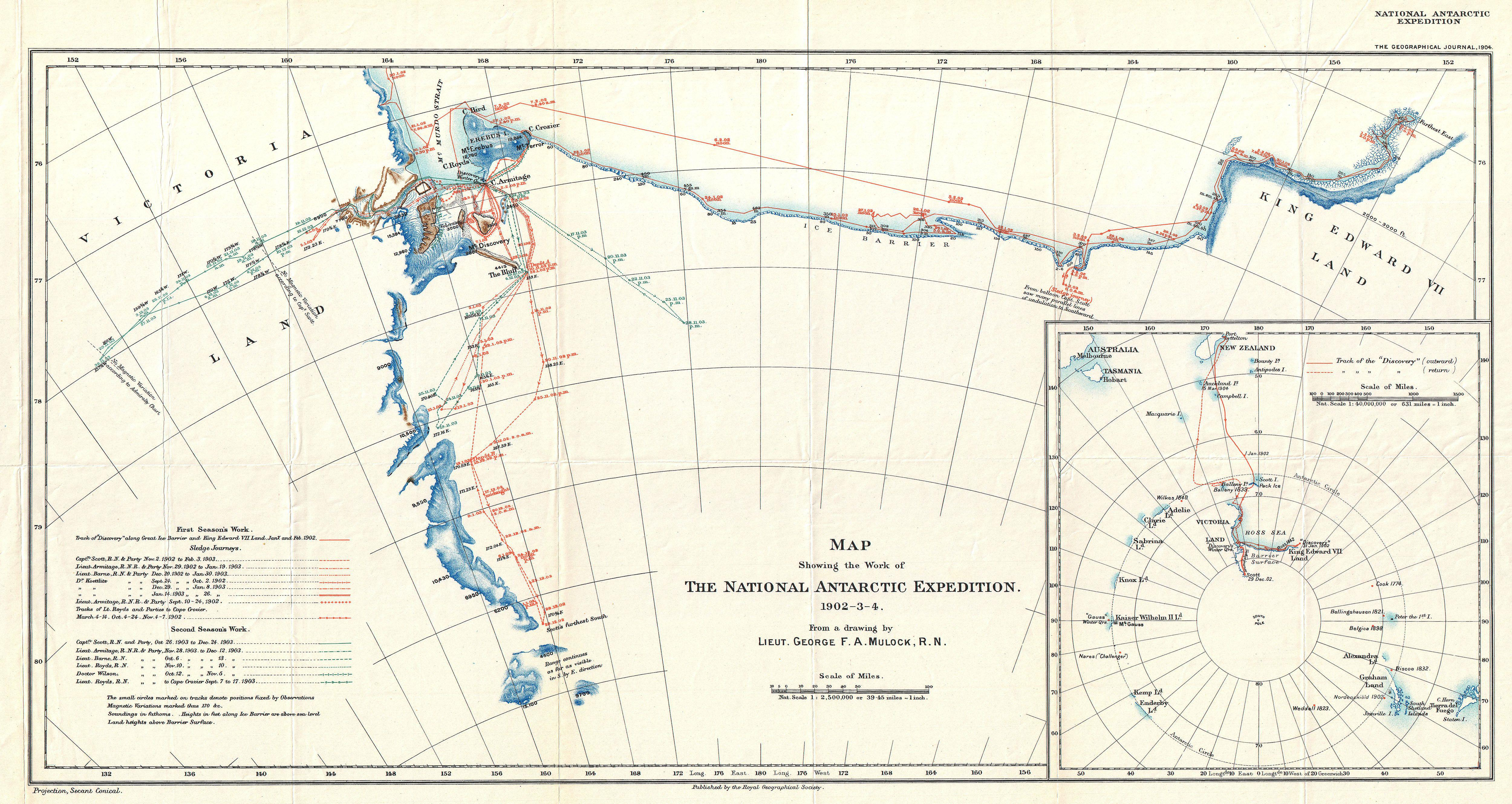 File 1904 Antarctic Expedition Map Of Victoria Land And
