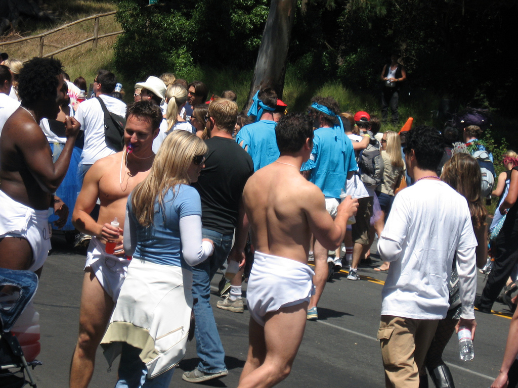 Adult diaper wearing participants in the annual Bay to Breakers Run, San Francisco Naruto   Adult Hanabi by =kimberly castello on deviantART