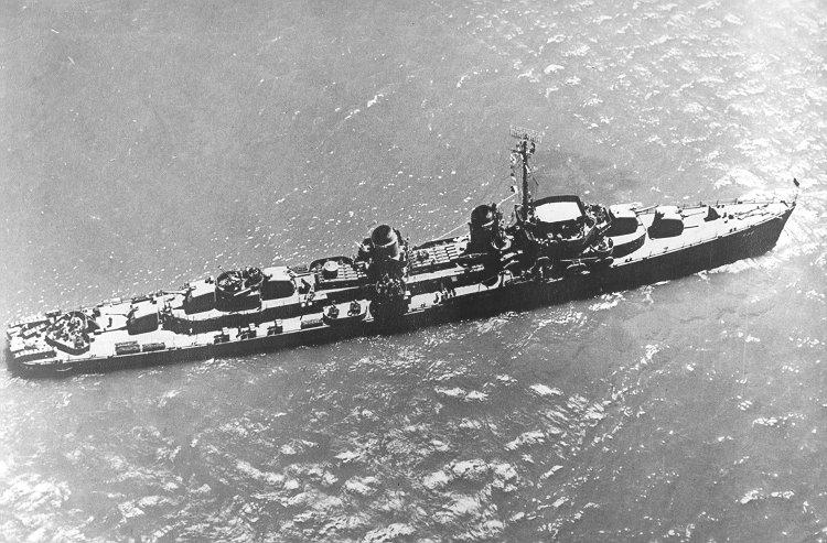 USS Heermann (DD-532); undated wartime photo.