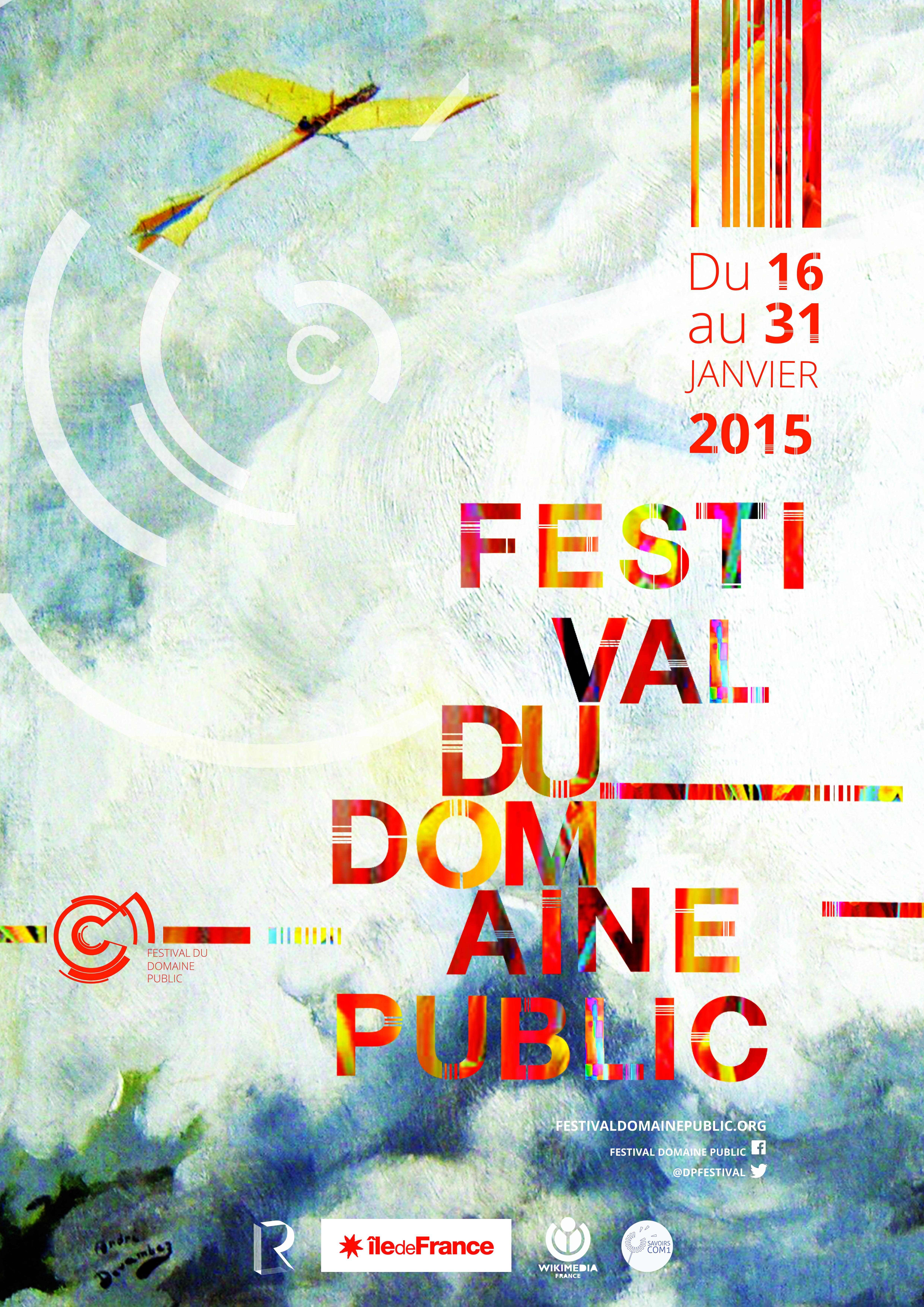 Affiche officielle du Festival Du Domaine Public