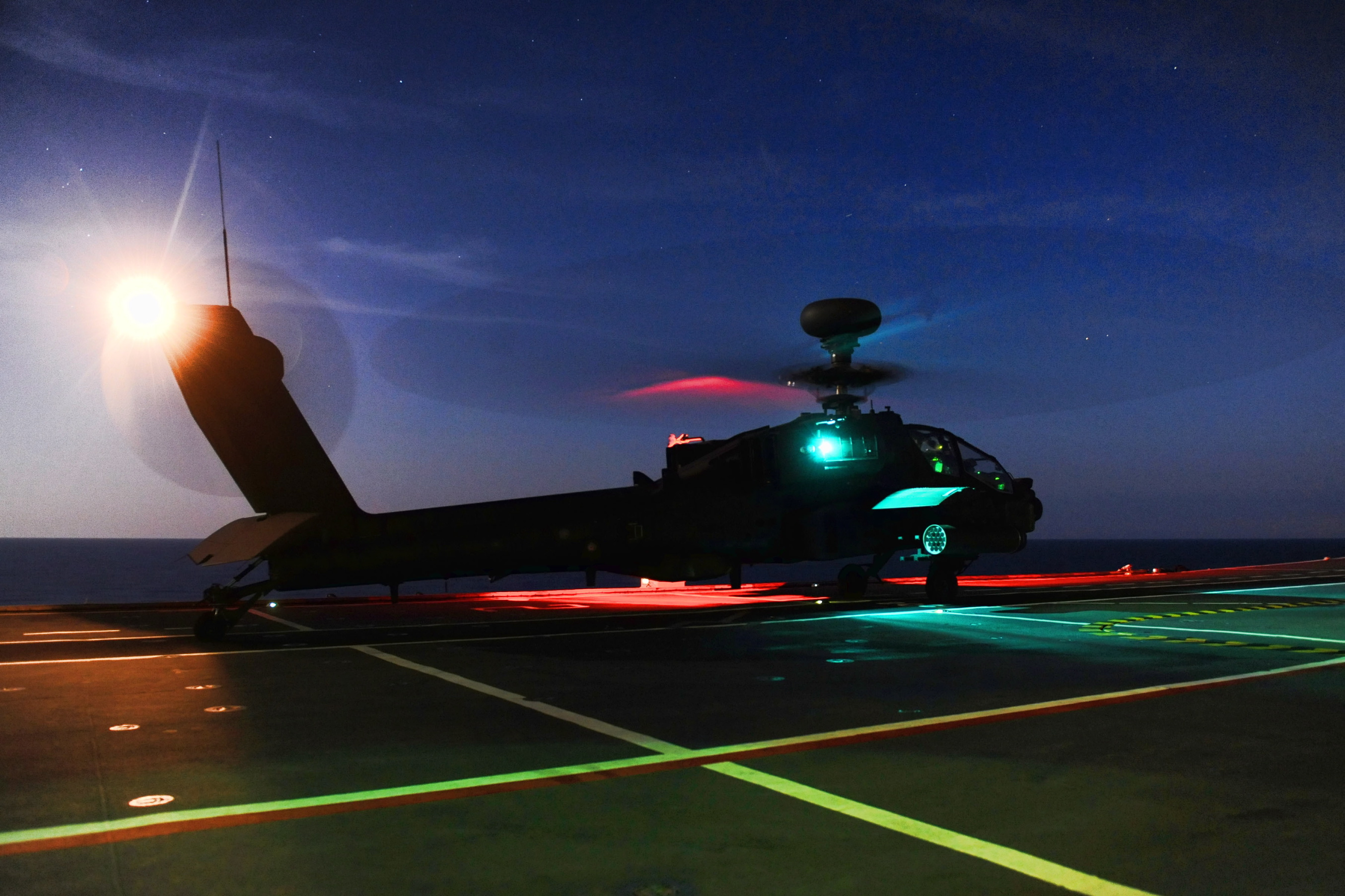 File Army Apache Helicopter Practices Deck Landing