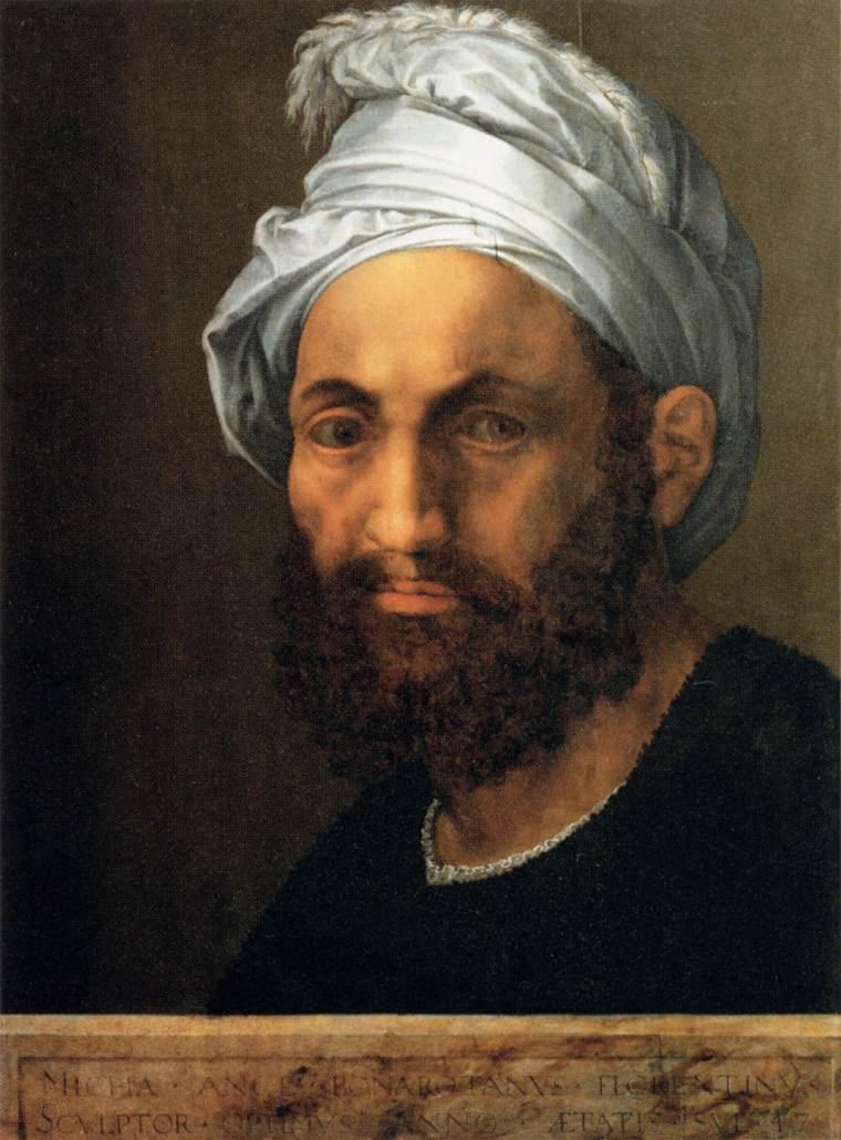 File:Baccio Bandinelli - Portrait of Michelangelo ...