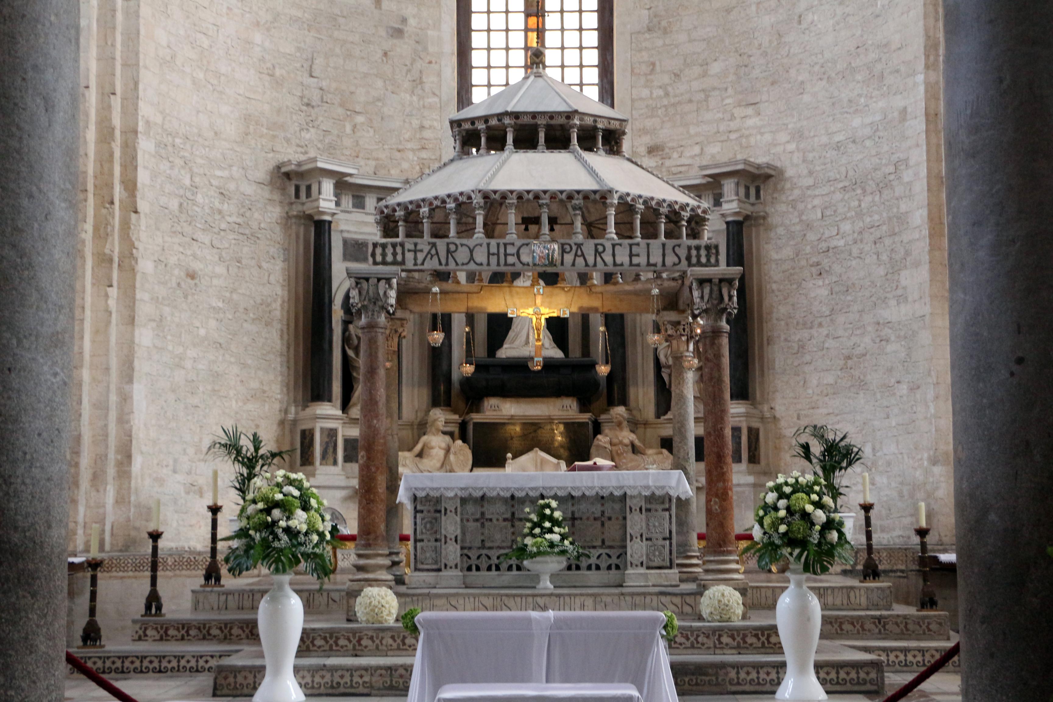 File Bari San Nicola Interno Ciborio Del 1150