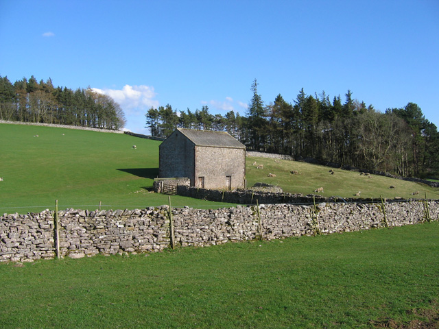 Barn and grazing land - geograph.org.uk - 1248117