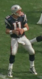 Bledsoe in 2001, during his tenure with the Patriots.
