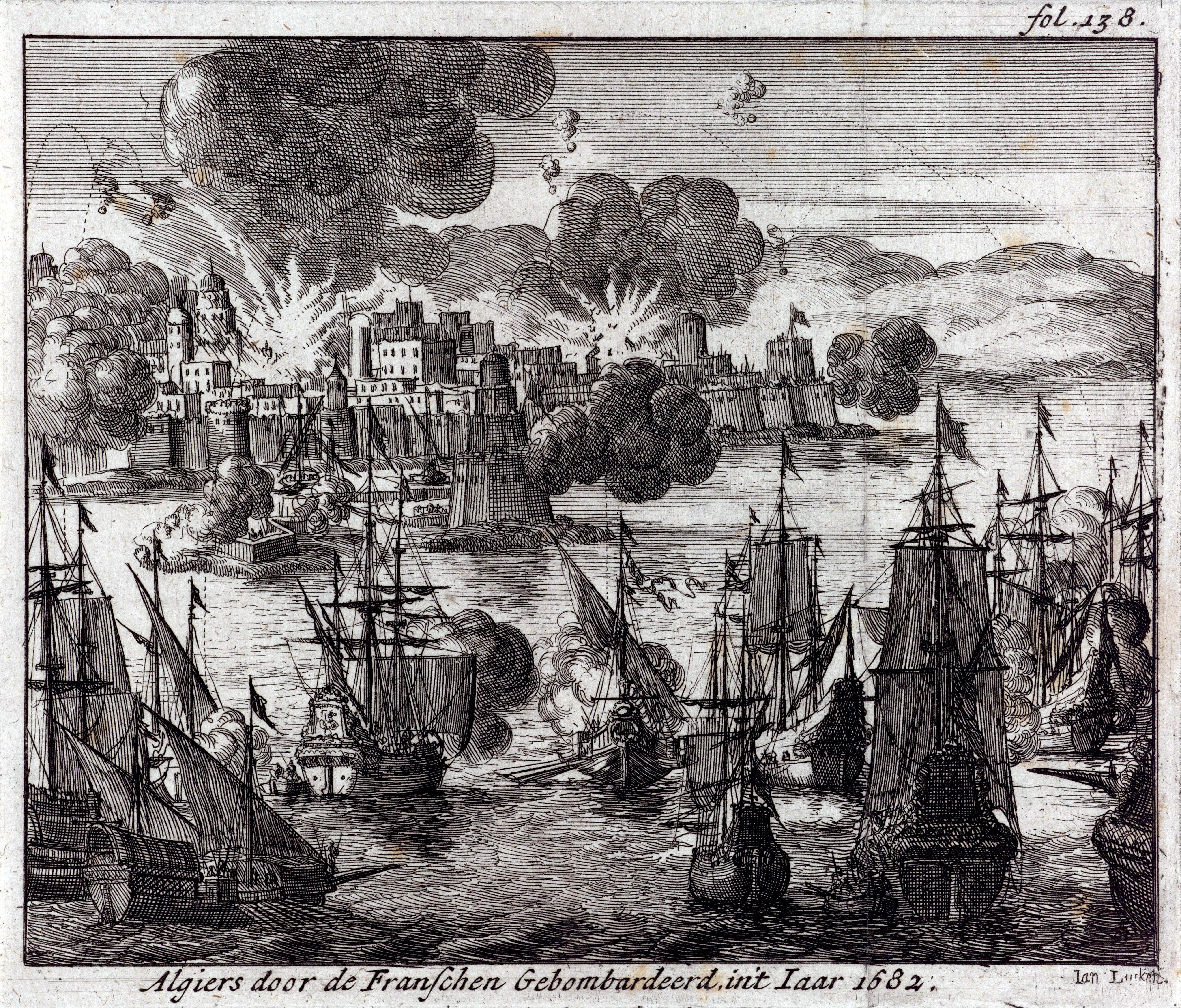 Bombardement d'Alger sous Louis XIV dans Histoire
