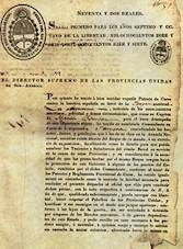 """A portion of the """"letter of marque"""" issued to Bouchard by the Argentine government."""