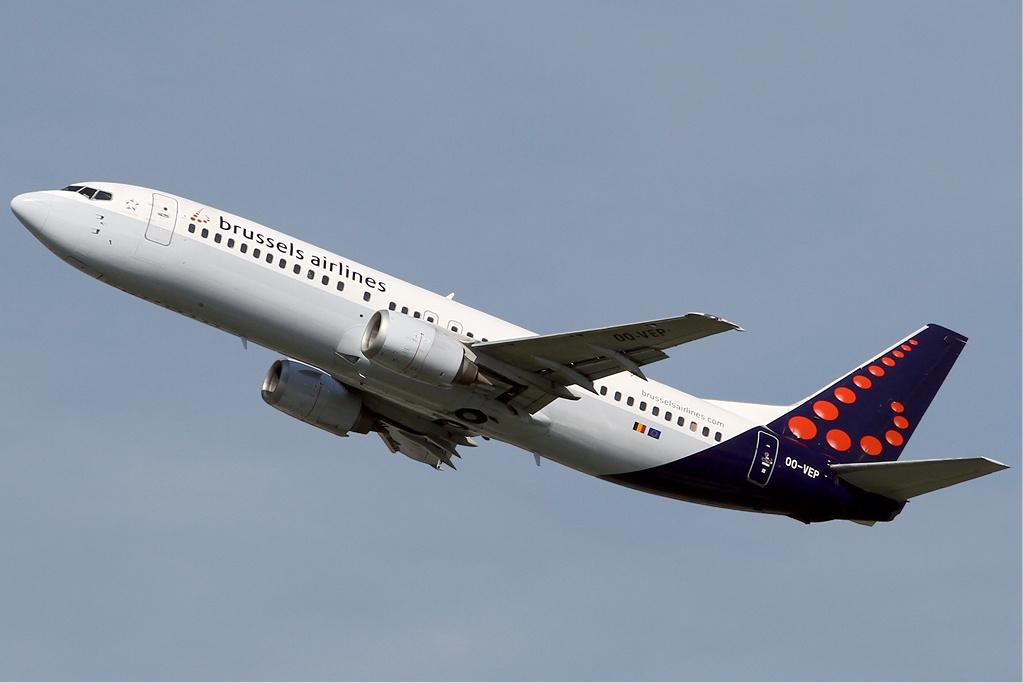 File Brussels Airlines Boeing 737 400 Kvw Jpg Wikimedia
