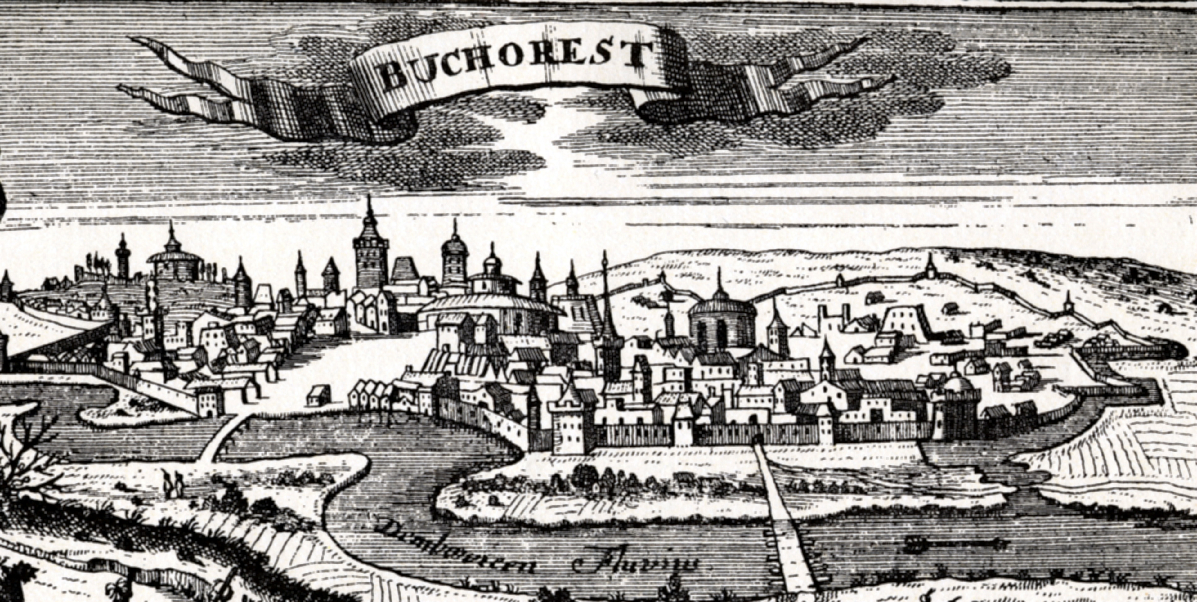 File:Bucharest, woodcut, published in Leipzig in 1717.jpg