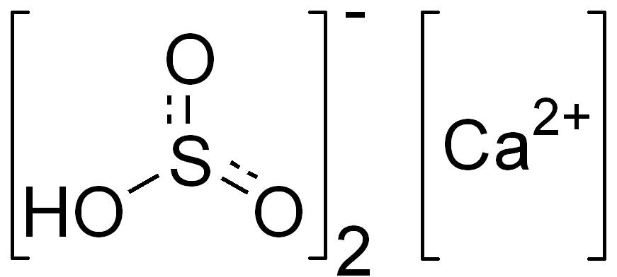Image result for Calcium Hydrogen Sulfite