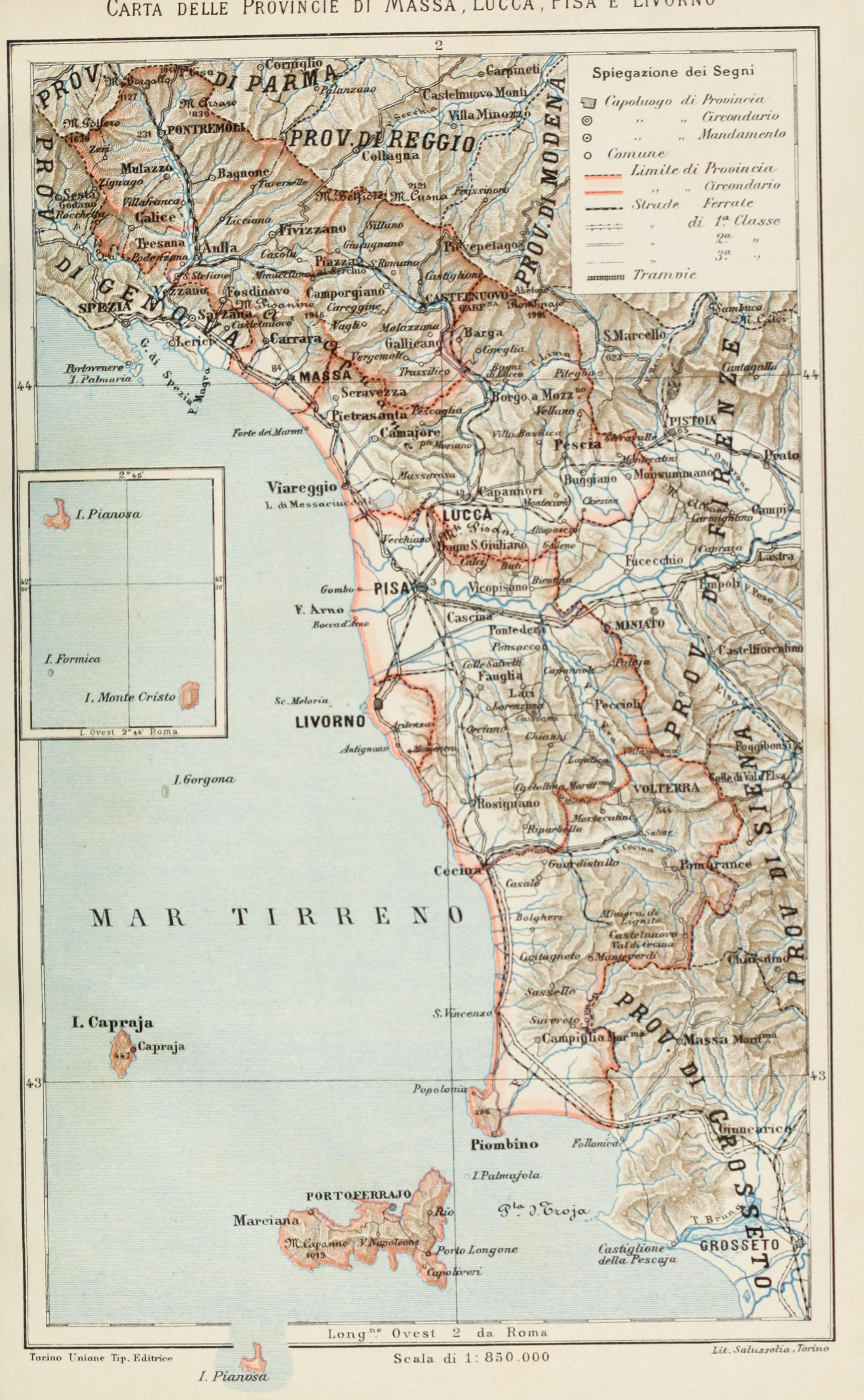 Cartina Italia Lucca.File Carta Delle Provincie Di Massa Lucca Pisa E Livorno 1896 Jpg Wikimedia Commons