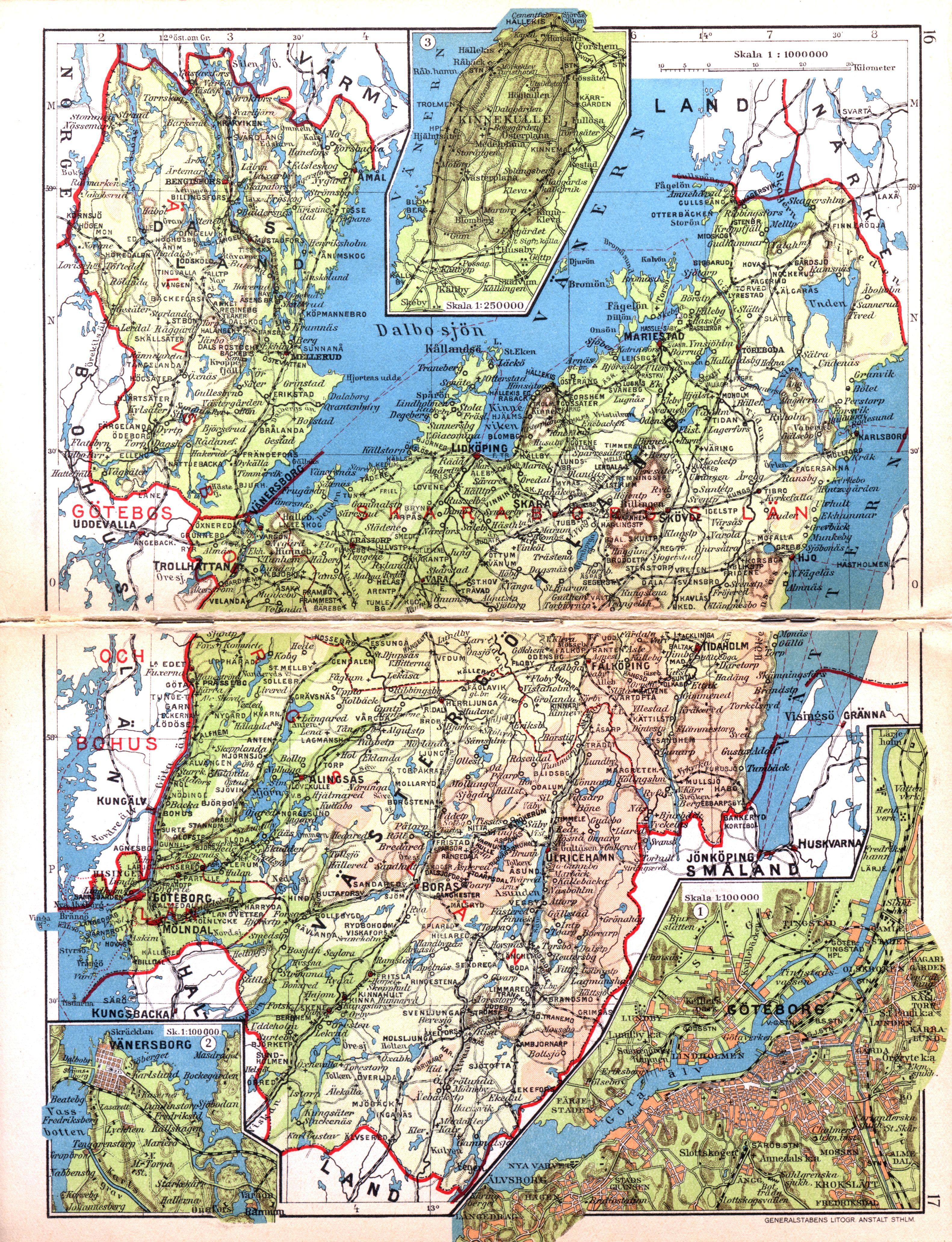 karta västergötland